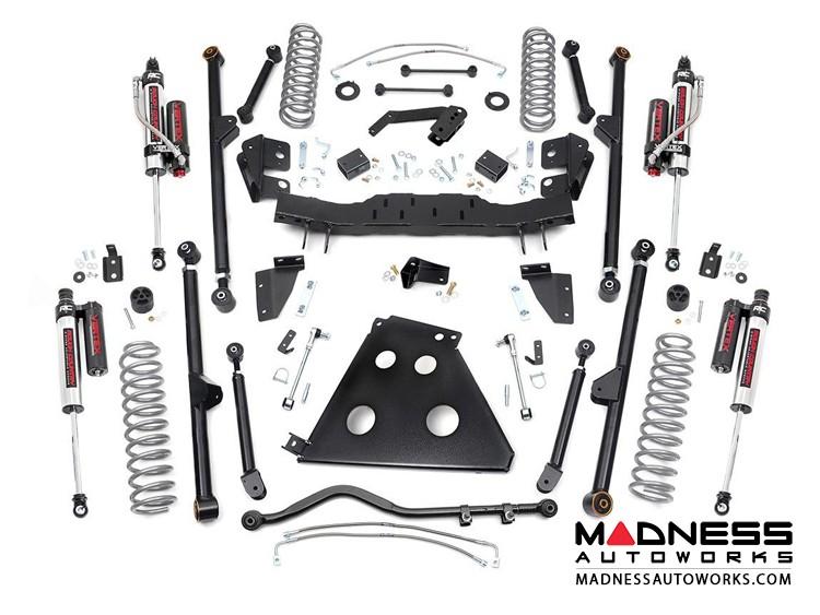 "Jeep Wrangler JK Unlimited Long Arm Suspension Kit w/Vertex Reservoir Shocks - 4"" Lift"
